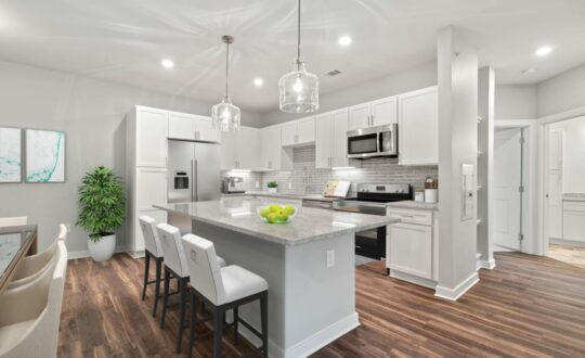 White kitchen at 8 West, Greensboro, NC