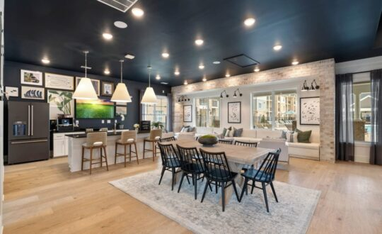 Clubroom with kitchen Reserve at Greenwood, Greensboro, NC